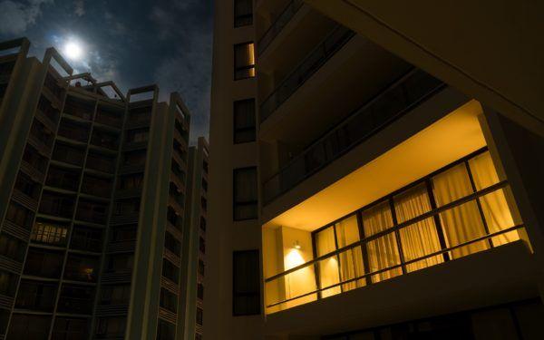 balkon, noc